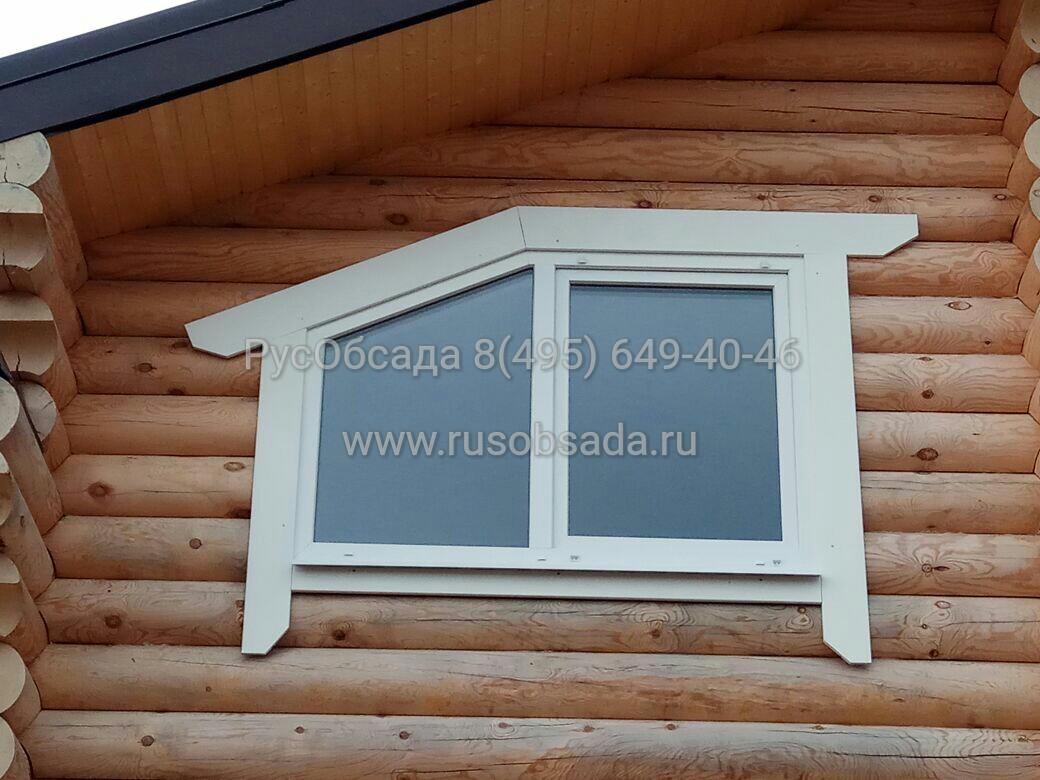 Деревянные наличники на окнав доме