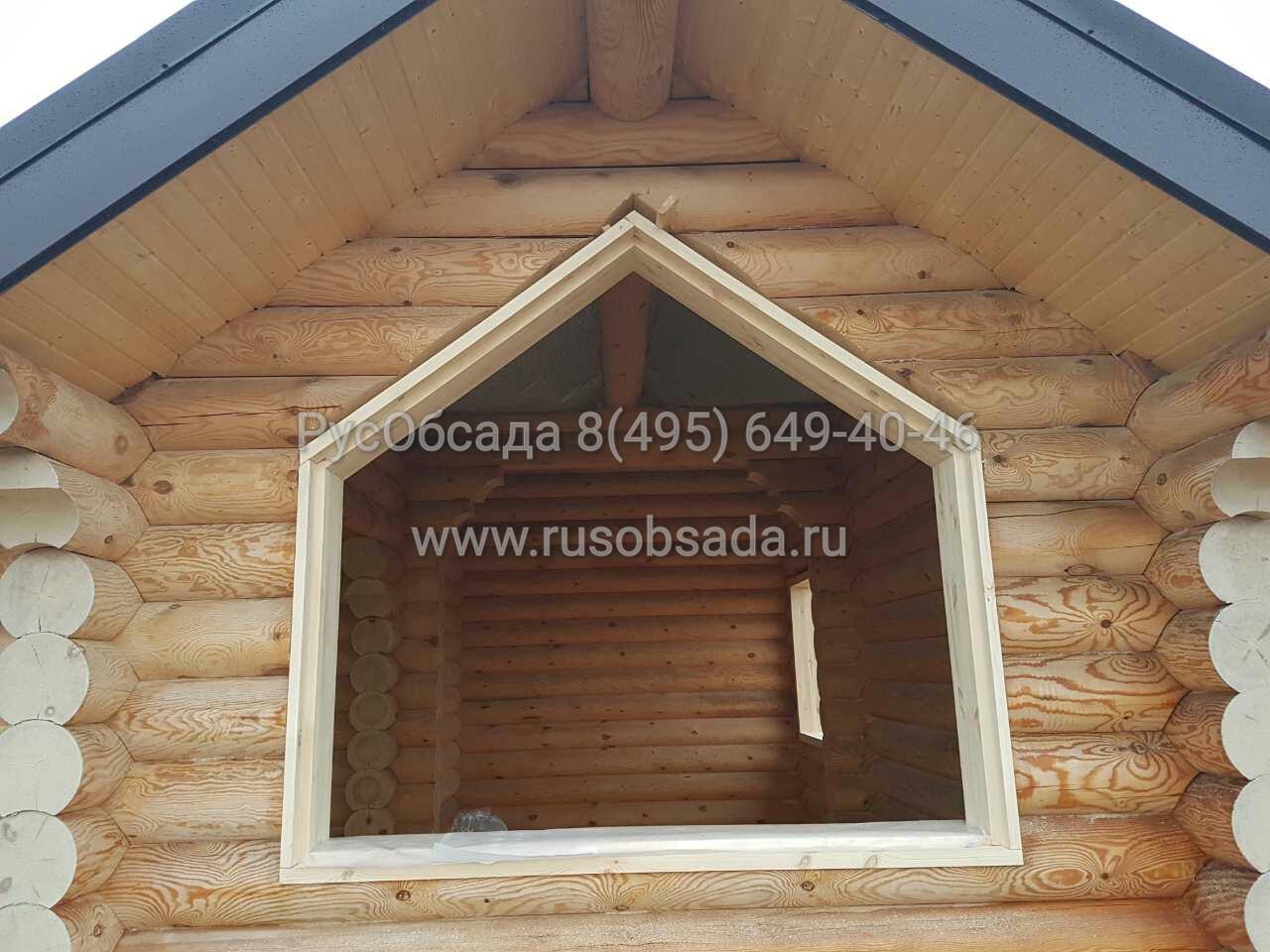 обсада и окна для  деревянного дома