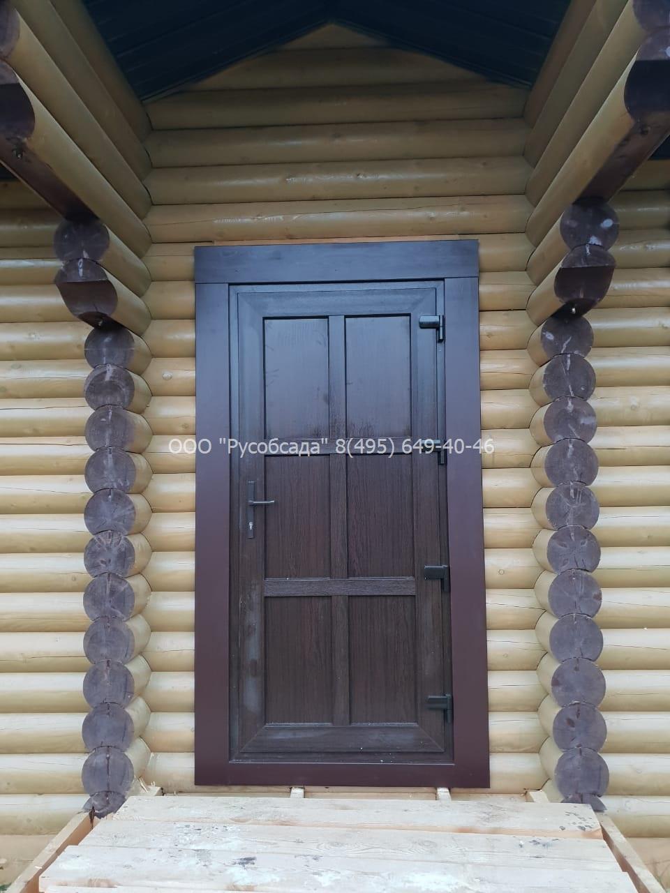 Дверь входная ПВХ в ламинации Тёмный дуб