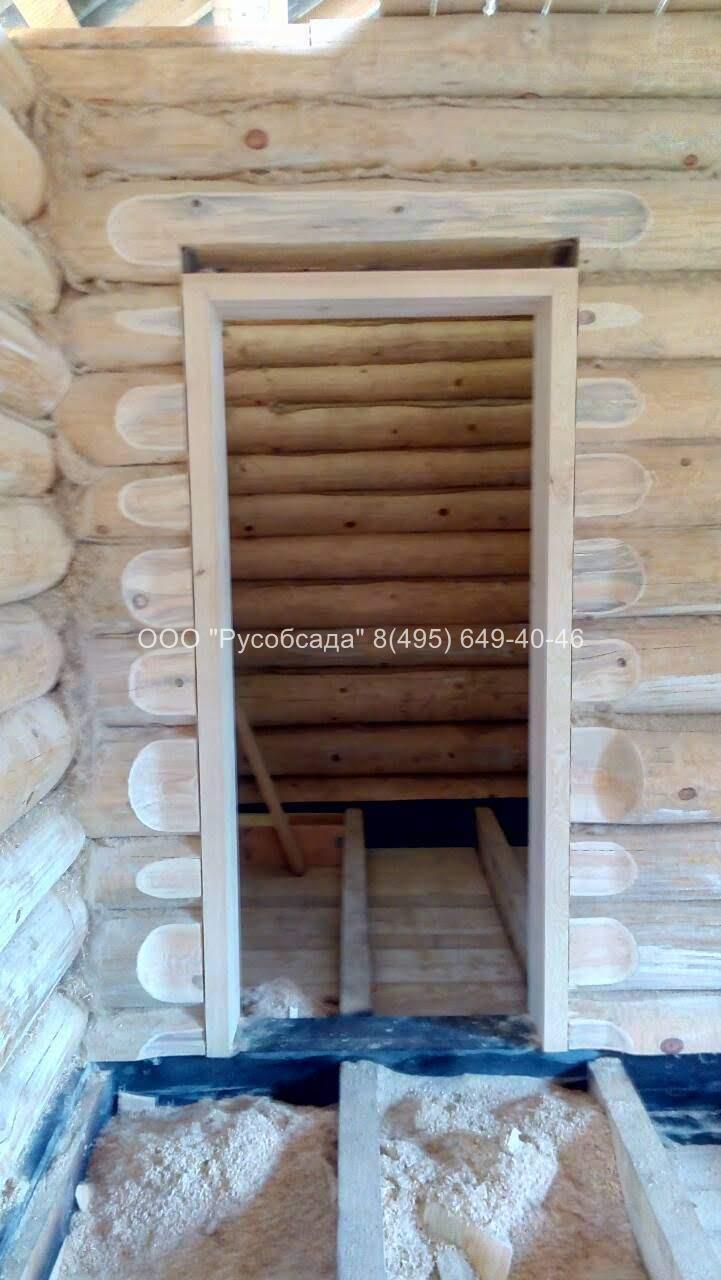 Окосячка межкомнатных дверей в деревянном доме