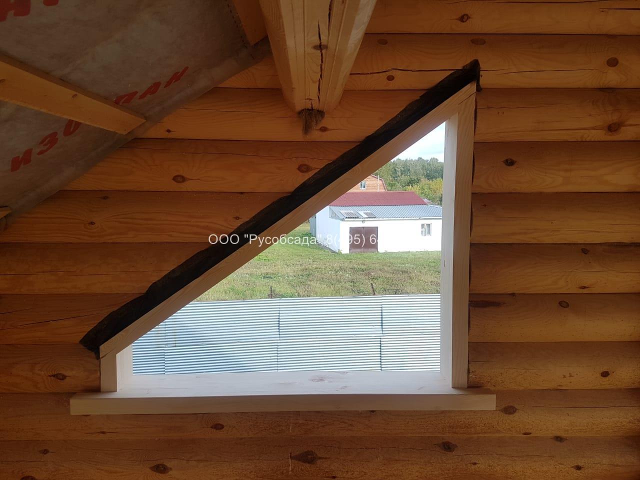 Окосячка скошенного окна (Русобсада)