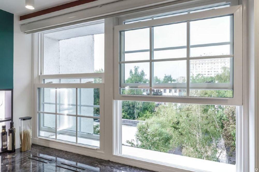 Английское окно на кухне