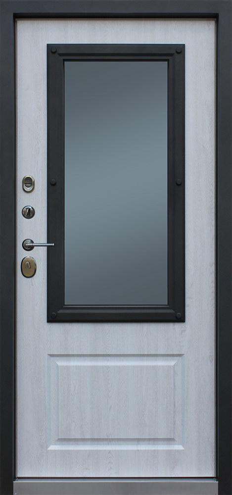 Стальная дверь Аляска с окном внутри