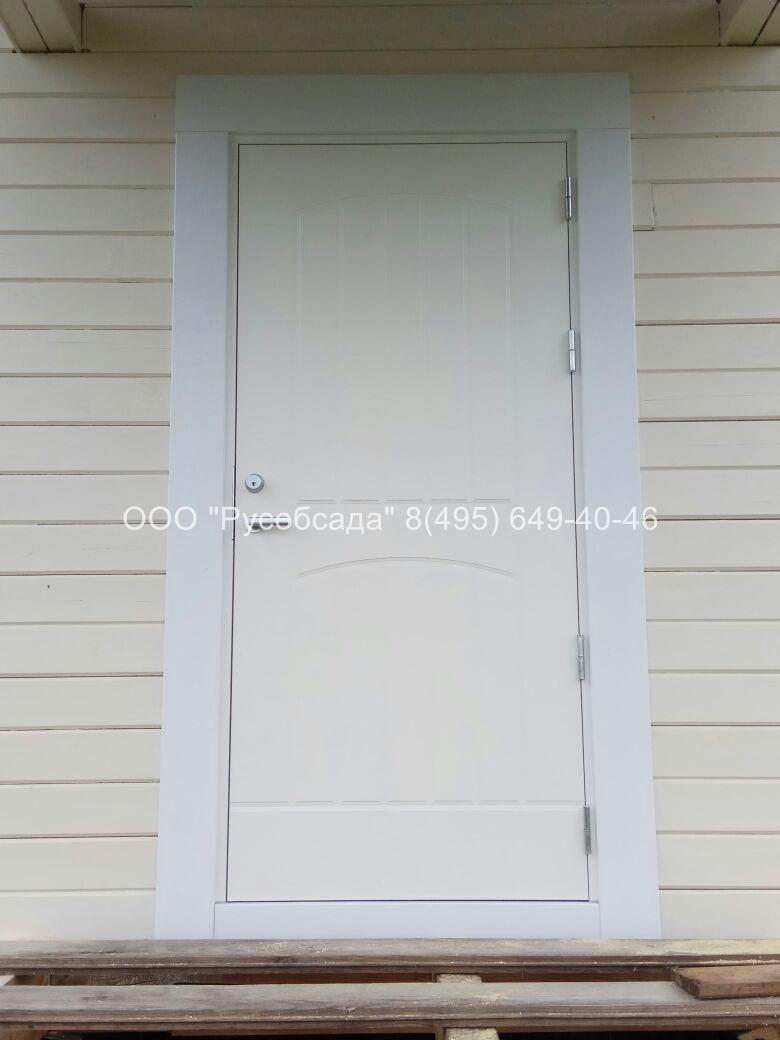 Окосячка входных дверей