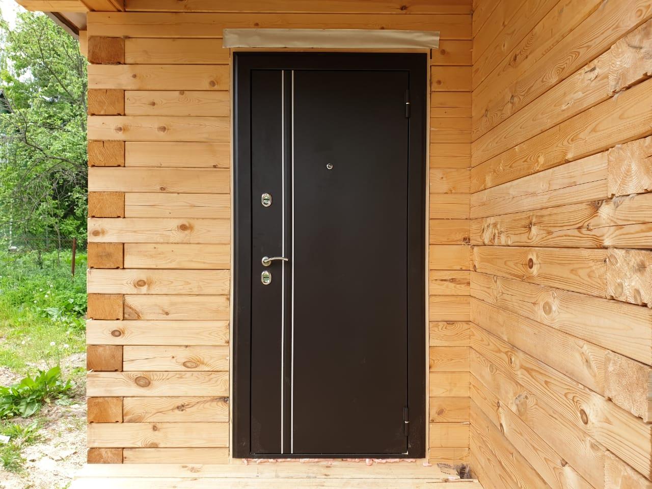 Стальная дверь Арктика с терморазрывом коричневая