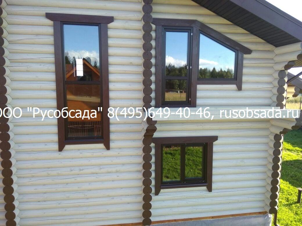 Обсада и окна в дом из бревна