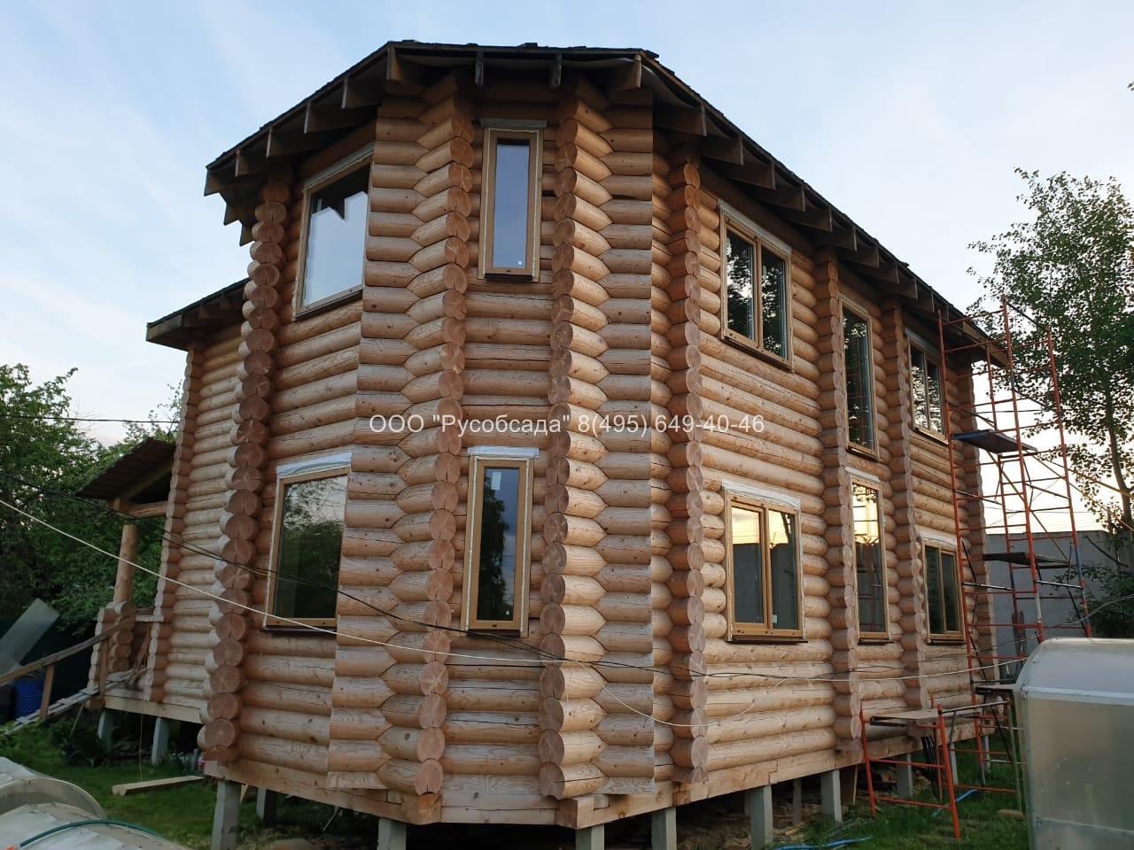 окна с окосячкой в деревянном доме