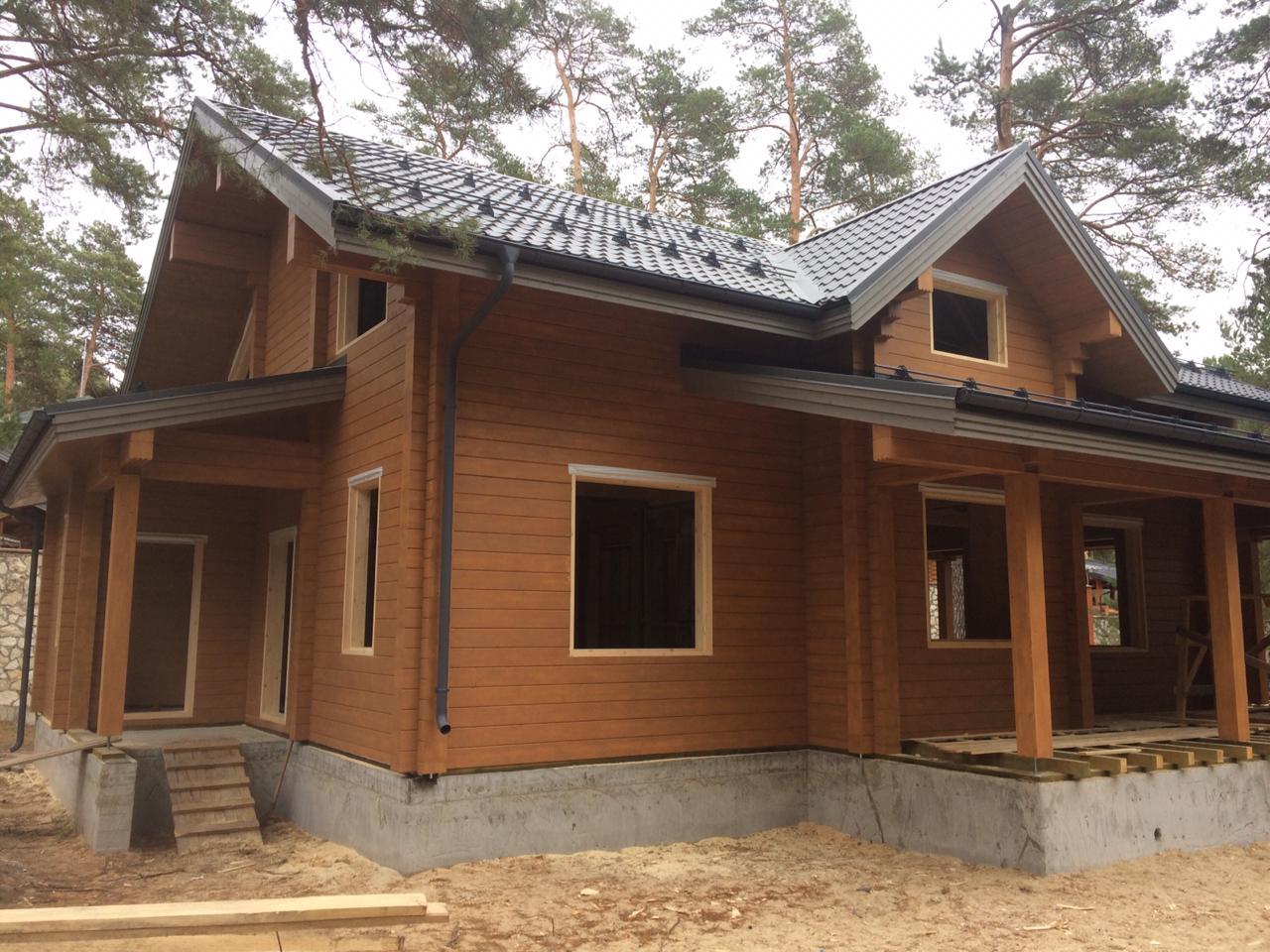 монтаж обсады в деревянный дом