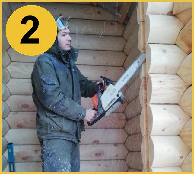 Резка проемов в деревянном доме