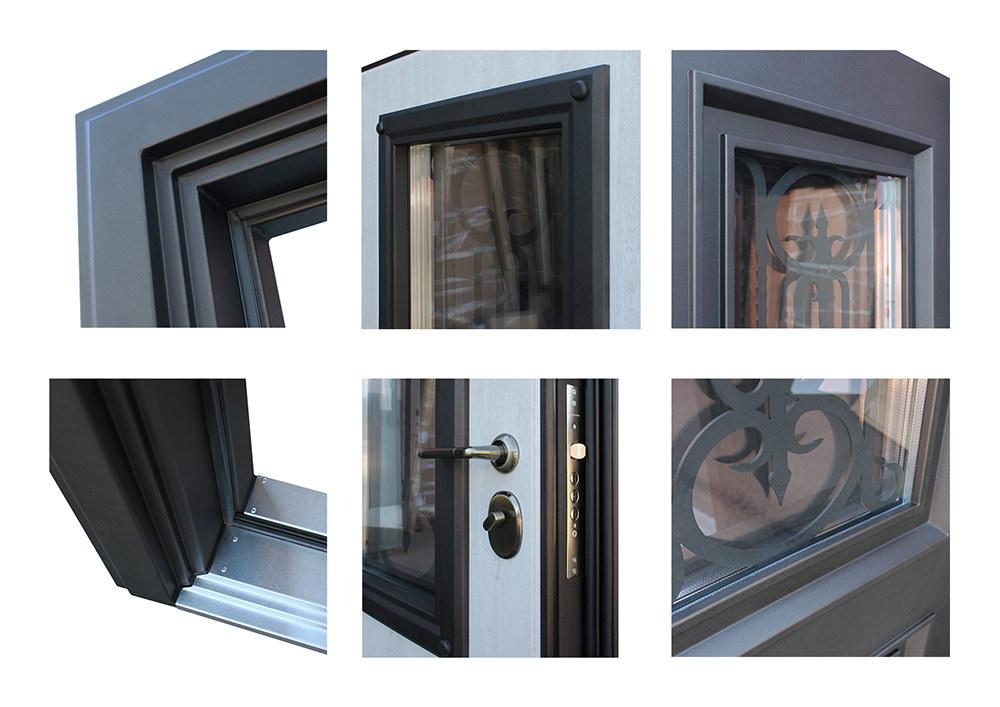 Дополнительный фото стальной двери Аляска
