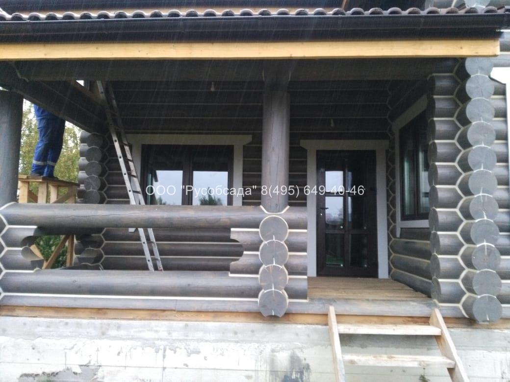 Остекление деревянного дома (Русобсада)