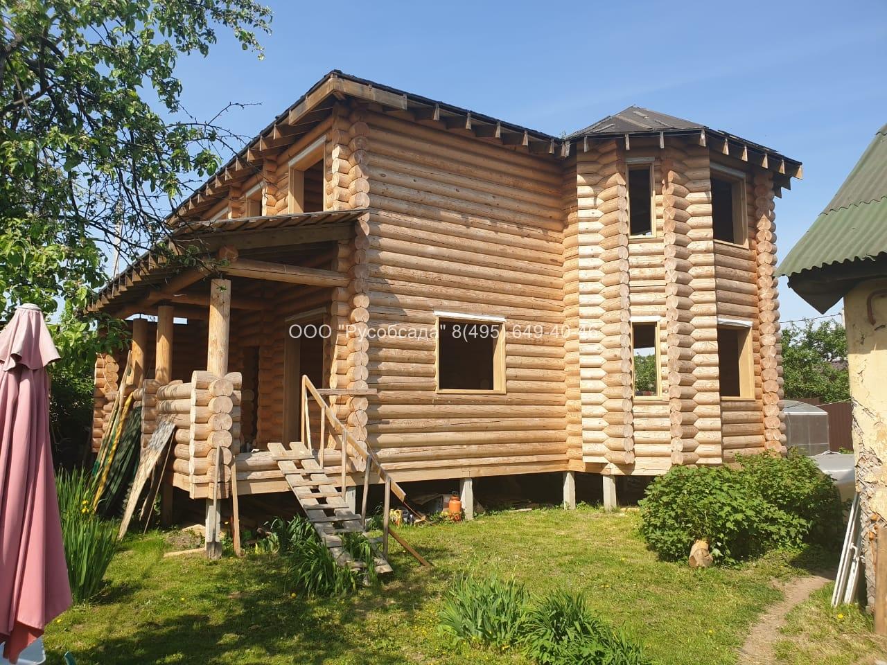 Обсада в дома из бревна в Одинцово