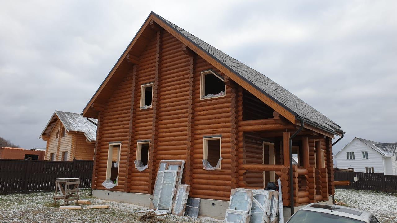 Окна с обсадой в деревянный дом