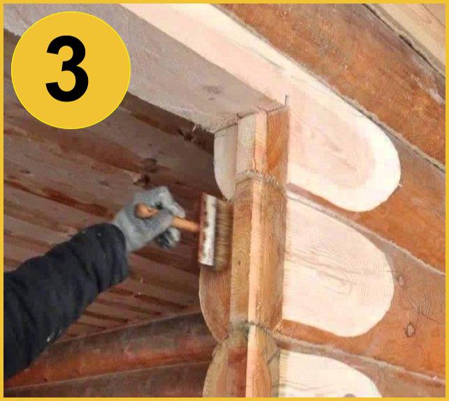 Антисептирование проемов в деревянном доме