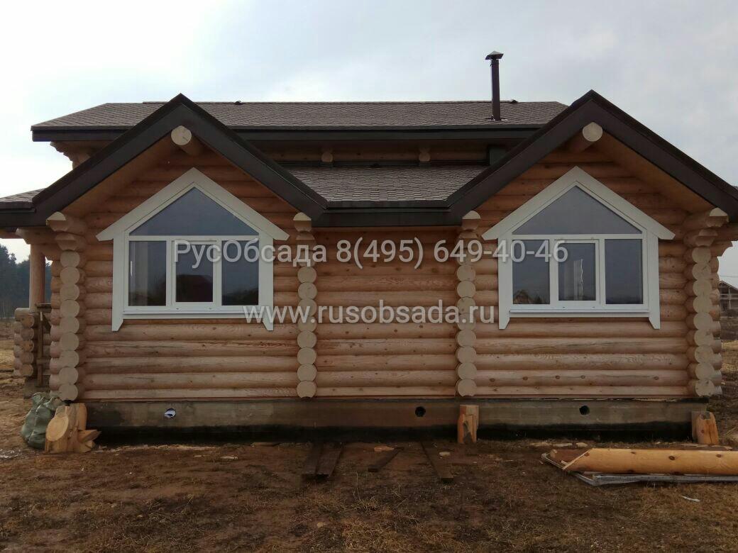 Обсада окон в деревянном доме