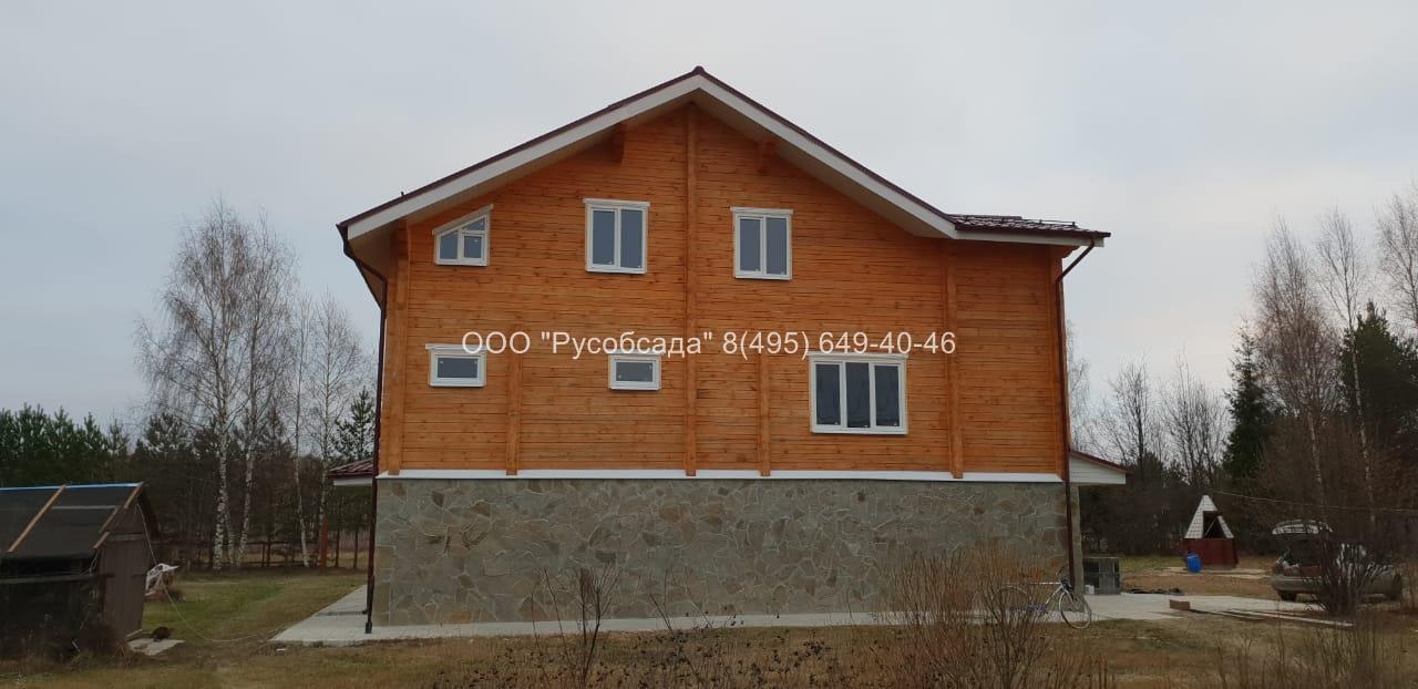 Остекление деревянного дома из бруса Русобсада