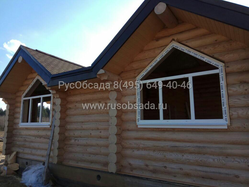 установка обсады и окна в деревянном доме