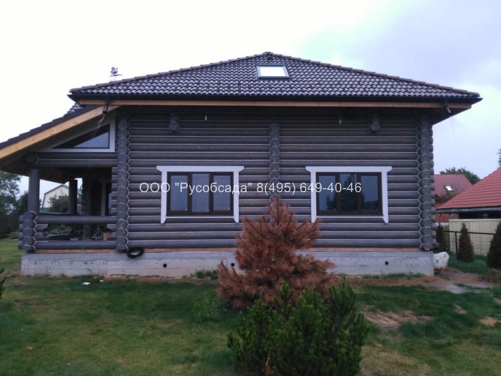 Обсада и окна с наличниками  в деревянный дом