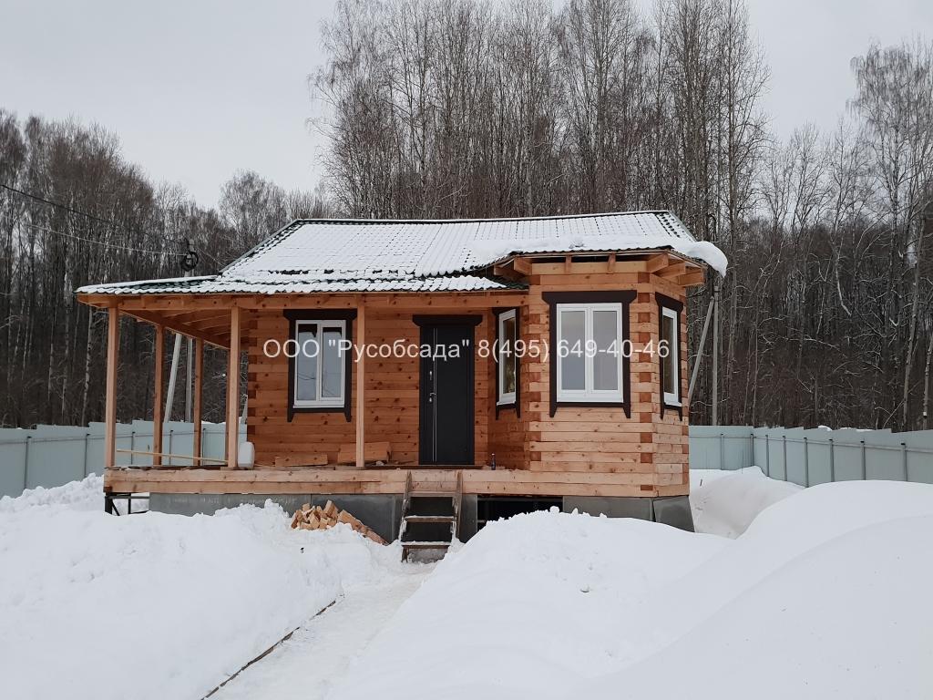 Остекление дома из бруса в Тульской области