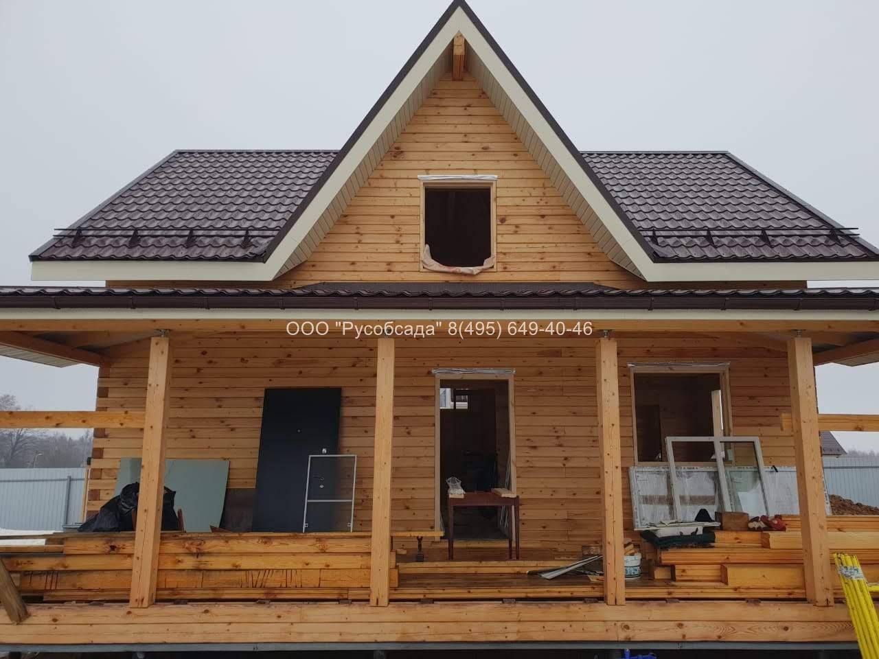 Обсада окон и дверей в деревянном доме